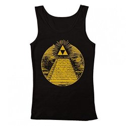 Zelda Triforce Illuminati Pyramid Women's Tank Top Black Xx-large