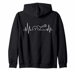 Acoustic Guitar Heartbeat Rhythm Gift Guitar Musician Music Zip Hoodie