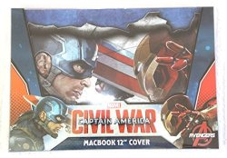 """Innoduction Group Marvel Civil War Captain America Macbook 12"""" Cover Shell"""