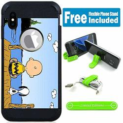 For Apple Iphone Xr Defender Rugged Hard Cover Case - Peanuts Snoopy Budu V