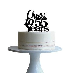 Peachy Cheers To 55 Years Cake Topper For 55 Years Love Wedding Funny Birthday Cards Online Inifofree Goldxyz