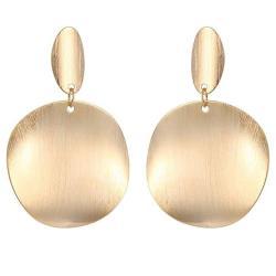 Earrings Cat Girls Women Fashion 18K Gold Plated Dangle Drop