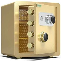 USA Wangjunxiu Safes All-steel Safe 40CM 45CM Pure Mechanical Anti-theft Home Safes Fireproof Document Box Safe Box Color : Tyrant Gold Size : 32 36