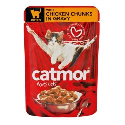 Catmor - Kitten Food Chuncks In Gravy 85G Chicken