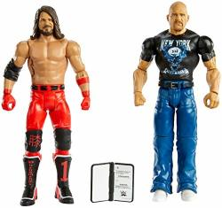 Wwe Stone Cold Steve Auston Vs Aj Styles Battle Pack Series 67 With Two 6-INCH Articulated Action Figures & Ring Gear
