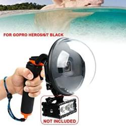 TFCFL Underwater Dome Port For Gopro Hero 7 HERO 6 HERO 5 Match With Diving Lights To Use Handheld Camera Waterproof Housing Case For Snorkeling Surfing