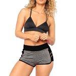 FORUU Yoga Shorts For Womens Sport Running Vest Stretch Tracksuit Legging Pants XL Black
