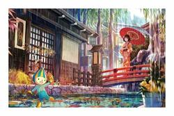 Aqwwhy 1000 Pieces Kimono Beauty Paintings Wooden Jigsaw Puzzles Diy Beautiful Japanese Woman Unique Gift Modern Home Decor Wall Art Picture For Teens And