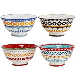 Amuse Soup and Fruit Set of 6-22 oz Professional Porcelain Bistro Collection Daily Bowls for Cereal