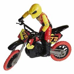Mxs Motocross Bike Toys Moto Extreme Sports Bike & Rider With Sfx Sounds By Jakks Pacific Action Figure Playsets - 72 Red & Yellow