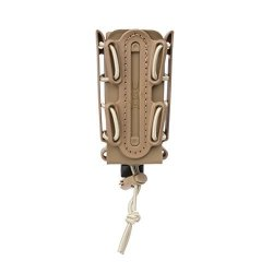 SOFT Tan Shell Scorpion -tall- Pistol Mag Carrier With P1 Molle stacking Clip 100% Made In The Usa
