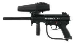 Tippmann A5 Paintball Gun With Response Trigger Black