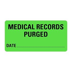 LabelValue.com Medical Records Purged Medical Records Labels LV-MRL14