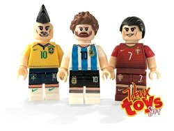 Veux Company LLC. Veux Toys Fifa World Cup Custom Collectible Minifigures Lionel Messi Cristiano Ronaldo And Neymar Jr Fit All Lego Playsets