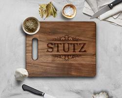 Krezy Case Family Name Personalized Wooden Cutting Board -fancy Custom Cutting Board - Housewarming Gift Wedding Gift Personaliz