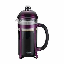 Bonjour 51281 8-CUP Maximus Borosilicate Glass French Press Purple