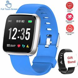 Updated Version Smart Watch For Android Ios Phone Full Touch Screen Waterproof Activity Fitness Tracker Watches With Pedometer Heart Rate Monitor Sleep Tracker Compatible