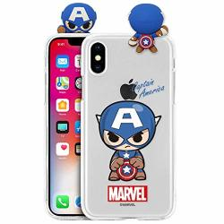 Marvel Avengers New Figure Clear Jelly Case For Apple Iphone 11 Pro Max Captain America