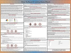 """Compliance Audit Center How To Read A Safety Data Sheet Sds Poster - Laminated 24"""" X 24"""