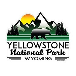 Yellowstone National Park Vinyl Decal Wyoming Sticker