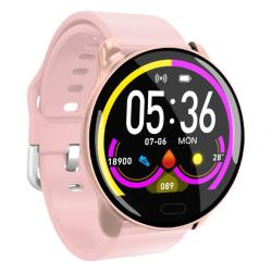 K9 1.22 Inch Color Screen Tpu Watchband Smart Bracelet Support Call Reminder Heart Rate Monitoring blood Pressure Monitoring Sleep Monitoring blood Oxygen Monitoring Rose Gold