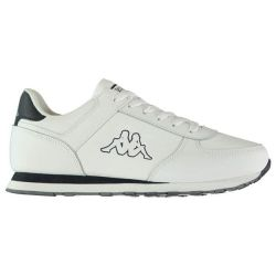 Kappa Mens Pesaro Dlx Trainers - White
