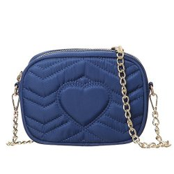MINICAT Women Nylon Small Crossbody Bags Cell Phone Purse Smartphone Wallet Blue