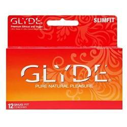GLYDE Slimfit Premium Small Condom - 36 Snugger Fit Condoms : The 1 Snug Natural Condom From Australia