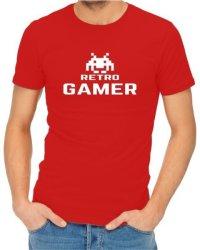 Retro Gamer Mens Red T-Shirt Medium