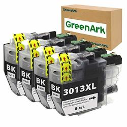 Greenark Compatible Ink Cartridge Replacement For BrOther LC3013XL Lc 3013 High Yield Ink Work For BrOther MFC-J491DW MFC-J497DW MFC-J690DW MFC-J895DW Inkjet Printers 4 Packs