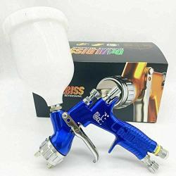 Air Devilbes Professional Sparyer GTI Pro Lite Blue 1.3MM Nozzle W t Cup TE20 Cap Car Paint Tool Pistol Spray Gun