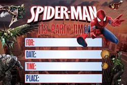 Spiderman Invitation Cards 20 Fill-in Invites For Kids Birthday Bash And Theme Party 10X15 Cm Postcard Style