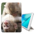 "STPlus Baby Monkey Animal Cover Case + Sleep wake Function + Stand For Samsung Galaxy Tab E Lite 7"" Galaxy Tab 3 Lite 7"""
