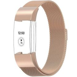 Milanese Loop For Fitbit Charge 2 - Rose Gold Size: M l