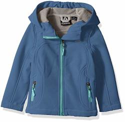 Reebok Girls' Toddler Active Classic Softshell Jacket Ocean 4T