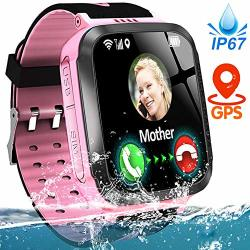Kids Smart Phone Watch IP67 Waterproof Gps Tracker Watch For 3-12 Year Girls Boys Two-way Call Sos Micro Chat Camera Games Swim Camp Activity