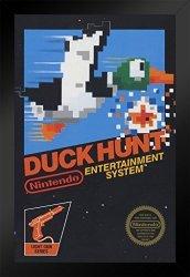 Pyramid America Duck Hunt Nintendo Nes Video Gaming Framed Poster Inch