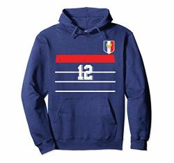 Retro France Soccer Hoodie France Football 12 Jersey 1998