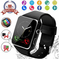 SMART WATCH Android Smartwatch Touch Screen Bluetooth For Android Phones Wrist Phone Watch With Sim Card Slot & Camera Waterproof Sports Fitness