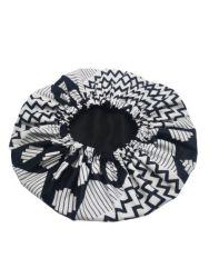 Yuppy Black And White Reversible Hair Bonnet