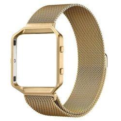 Killerdeals Milanese Loop For Fitbit Blaze With Metal Frame - Gold