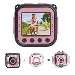Prograce Upgraded Kids Waterproof Camera Action Video Digital Camera 1080 HD Camcorder For Girls Toys Gifts Build-in Game Pink