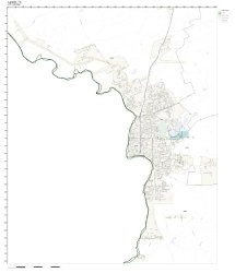 Zip Code Wall Map Of Laredo Tx Zip Code Map Laminated