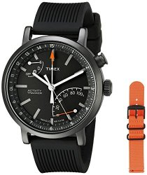 Timex Unisex TWG012600 Metropolitan Activity Tracker Smart Watch Gift Set With Black Silicone And
