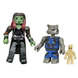 Diamond Select Toys Marvel Minimates Series 71 Wave 1 Guardians Of The Galaxy VOL.2 Gamora & Rocket With Groot 2 Pack