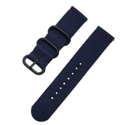 Bakeey 20MM Canvas Nylon Watch Band Strap Black Buckle Military Style For BW-HL1 SAMSUNG