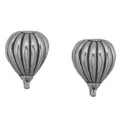 Sterling Silver Hot Air Balloon Post Stud Earrings