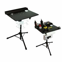 TFCFL Large Portable Tattoo Workstation Adjustable Height Stand Salon Instrument Tattoo Table