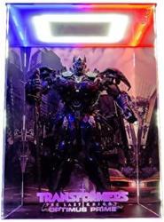 SNH 3A 19 Inch Transformers 5 The Last Knight Optimus Prime Model Acrylic Display Box LED Light Frame Handmade Pvc Figure Model Gk Display Box Dust Cover