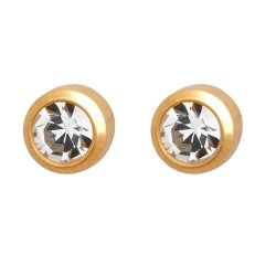 MEDISYSTEM - Surgical Steel White April Stud Earring